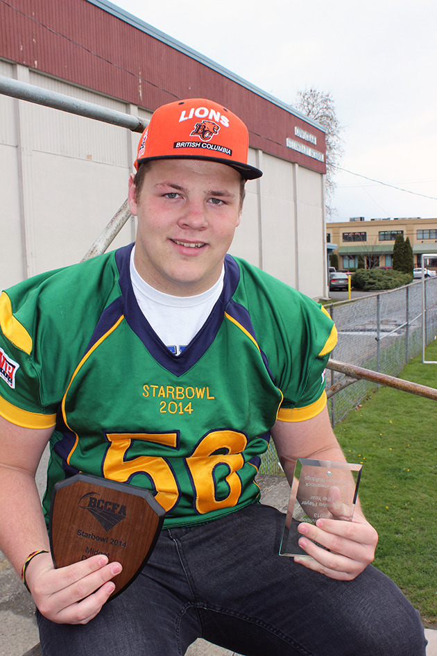 Brock Gowanlock receives two honours for his defensive football prowess. — image credit: Don Bodger