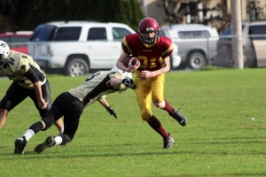 Kain Melchior in action for the Cowichan Bulldogs. — image credit: Don Bodger/file