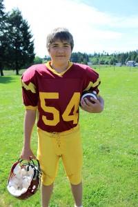 Cowichan Peewee Bulldogs' Nicholas Young.