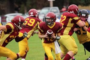 Cowichan Bulldogs' quarterback Kain Melchior.— Image Credit: Don Bodger/File