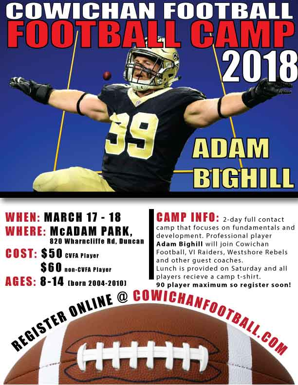 2018 Spring Camp with BIGHILL - Cowichan Valley Football Association