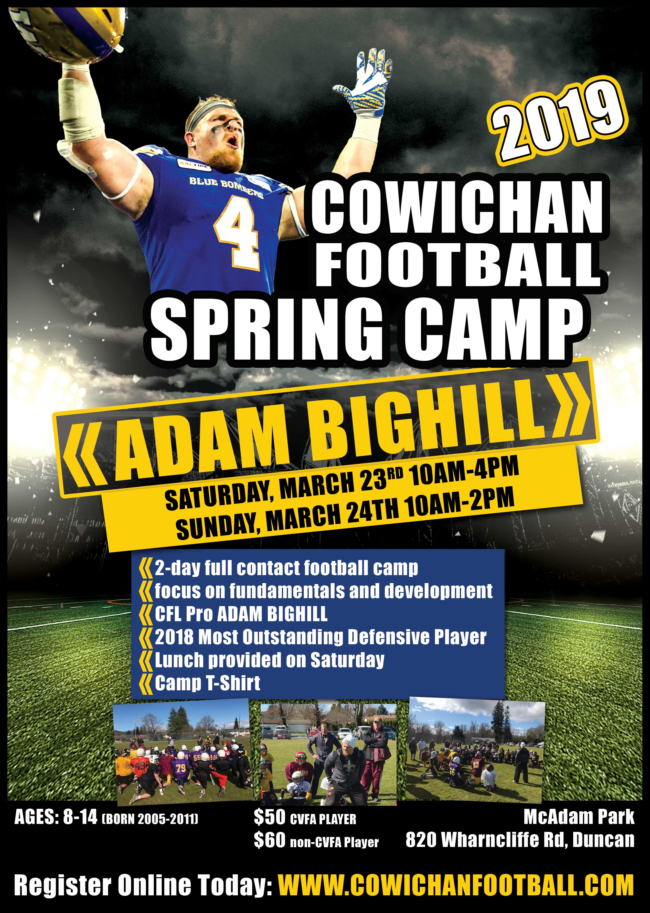 2019 Spring Camp With Bighill Cowichan Valley Football
